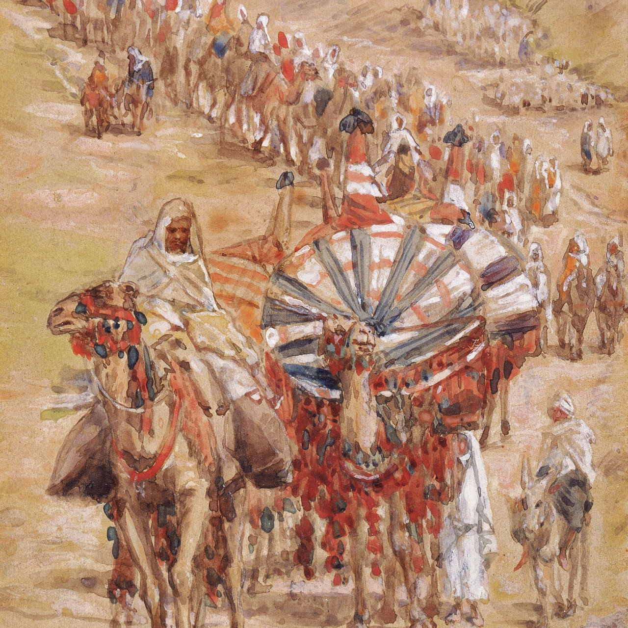 """The Caravan of Abraham"" by James Tissot, ca. 1900."