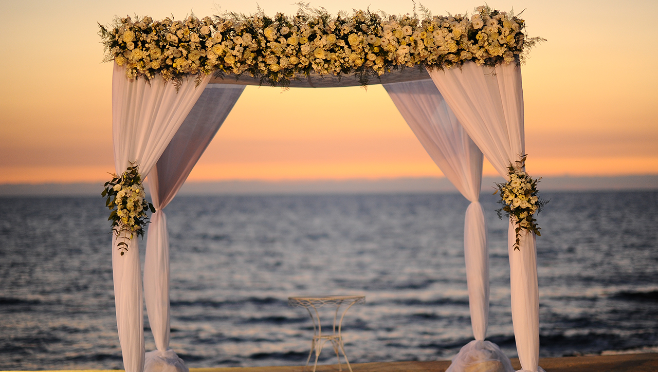 A chuppah awaits the wedding couple. (Photo/JTA-Mendy Hechtman-Flash90)