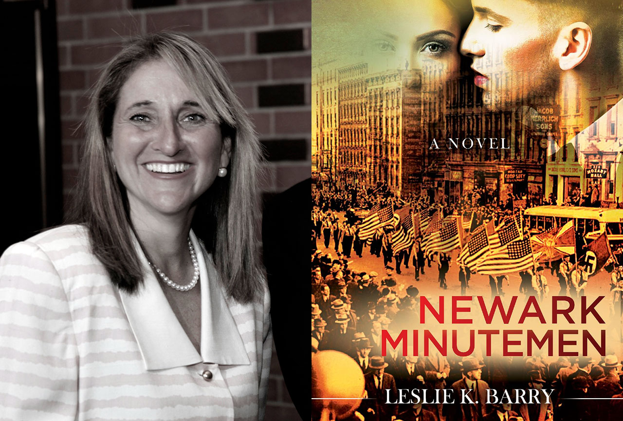 "Tiburon novelist Leslie K. Barry is the author of ""Newark Minutemen."""