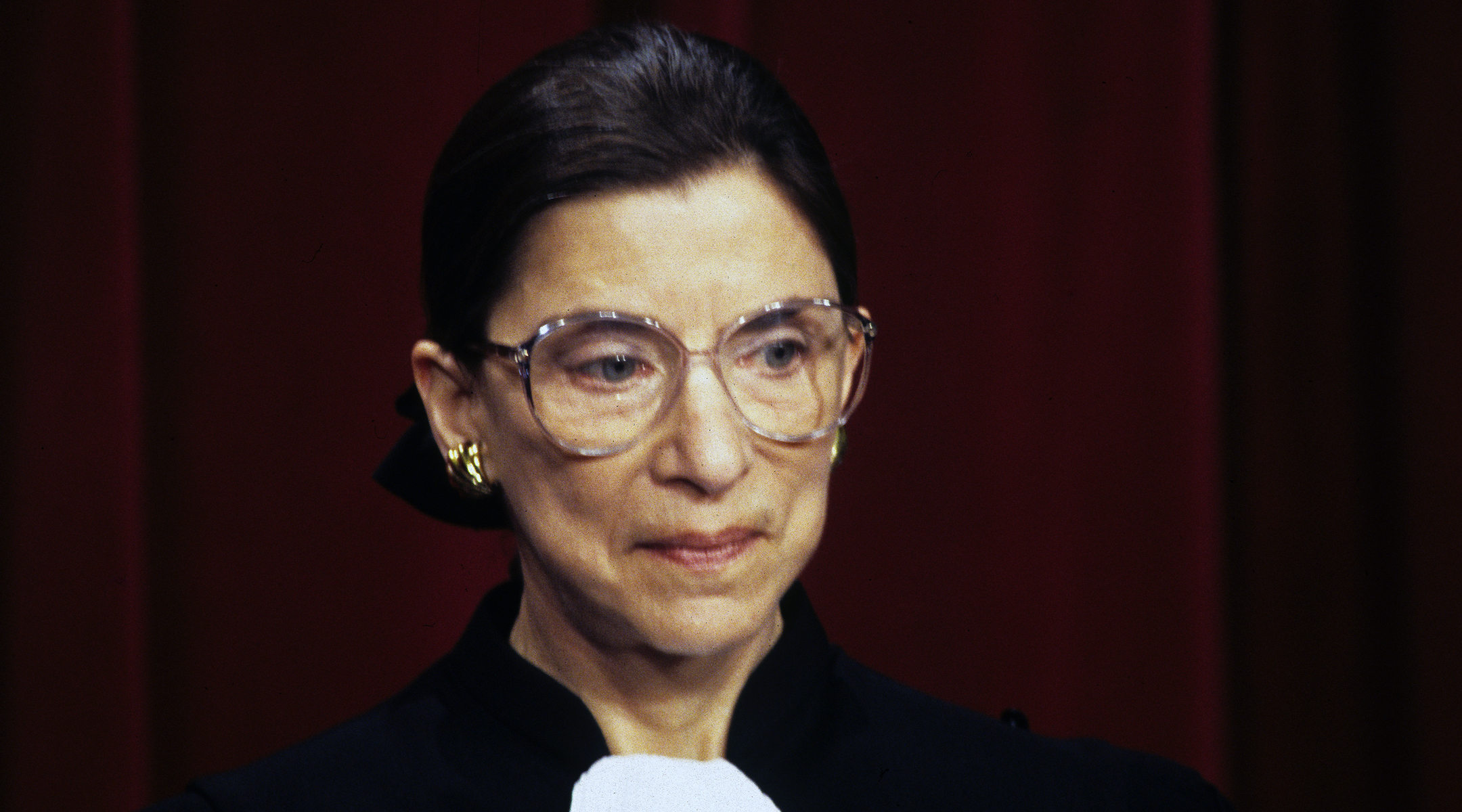 Ruth Bader Ginsburg at the United States Supreme Court, Dec. 3, 1993. (Photo/JTA-Ron Sachs-CNP-Getty Images)