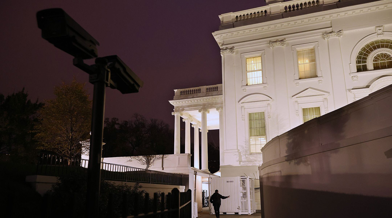 Evening light falls on the White House nine days after the presidential election in Washington, DC. on Nov. 12, 2020. (Photo/JTA-Chip Somodevilla-Getty Images)