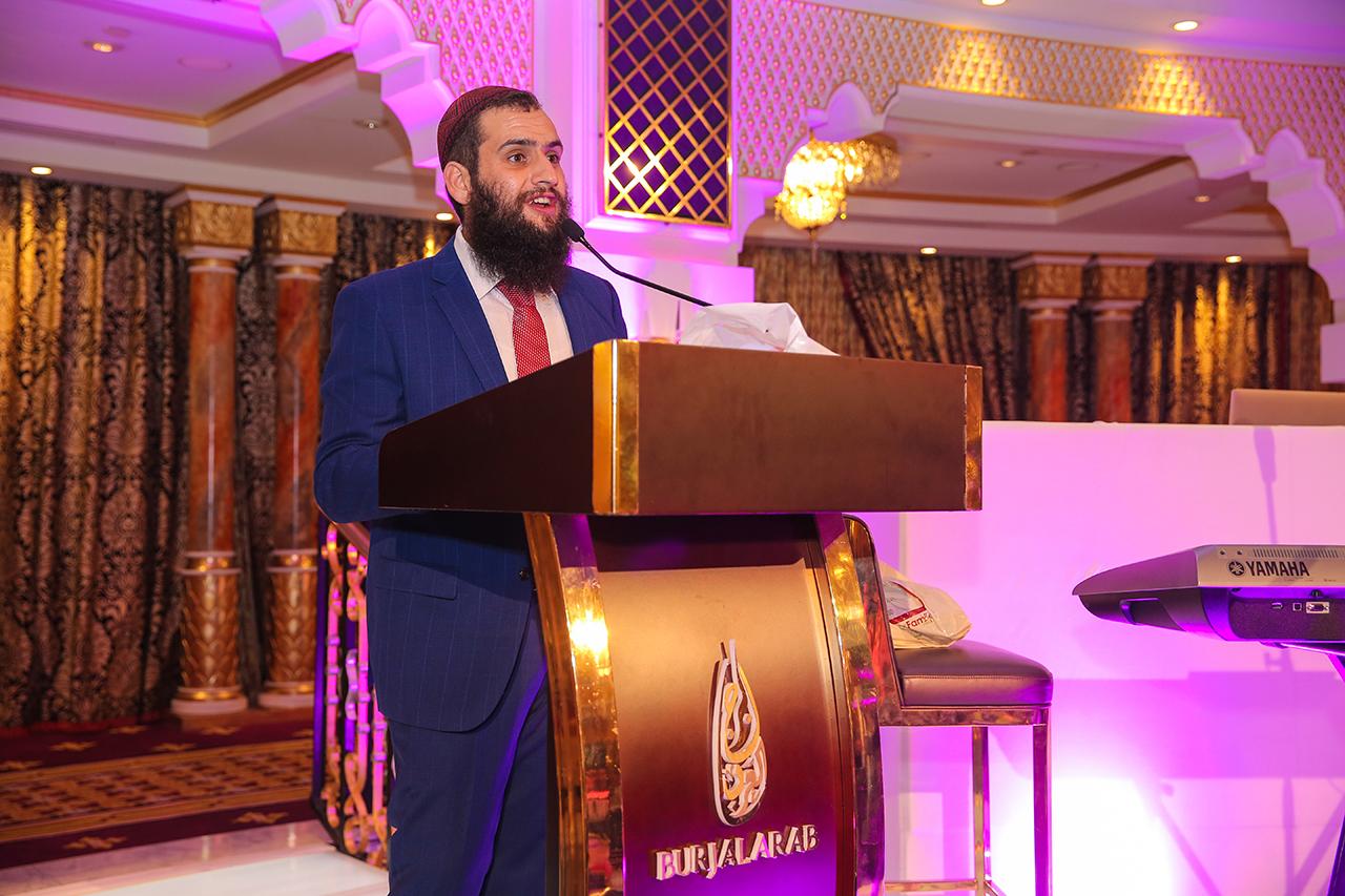 Rabbi Levi Duchman speaking in Dubai in 2019. (Photo/Courtesy Jewish Community of the UAE)