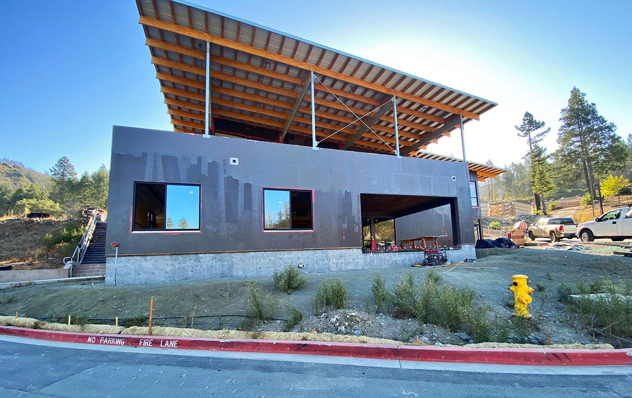 The new community center under construction at URJ Camp Newman. (Photo/Courtesy Newman)