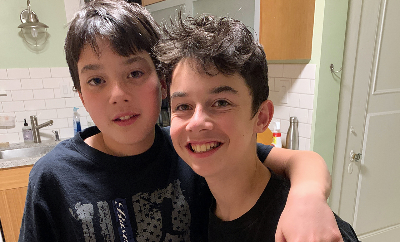 Benjamin and Isaac Estow will become b'nai mitzvah at Temple Sinai in Oakland, Dec. 5, 2020.