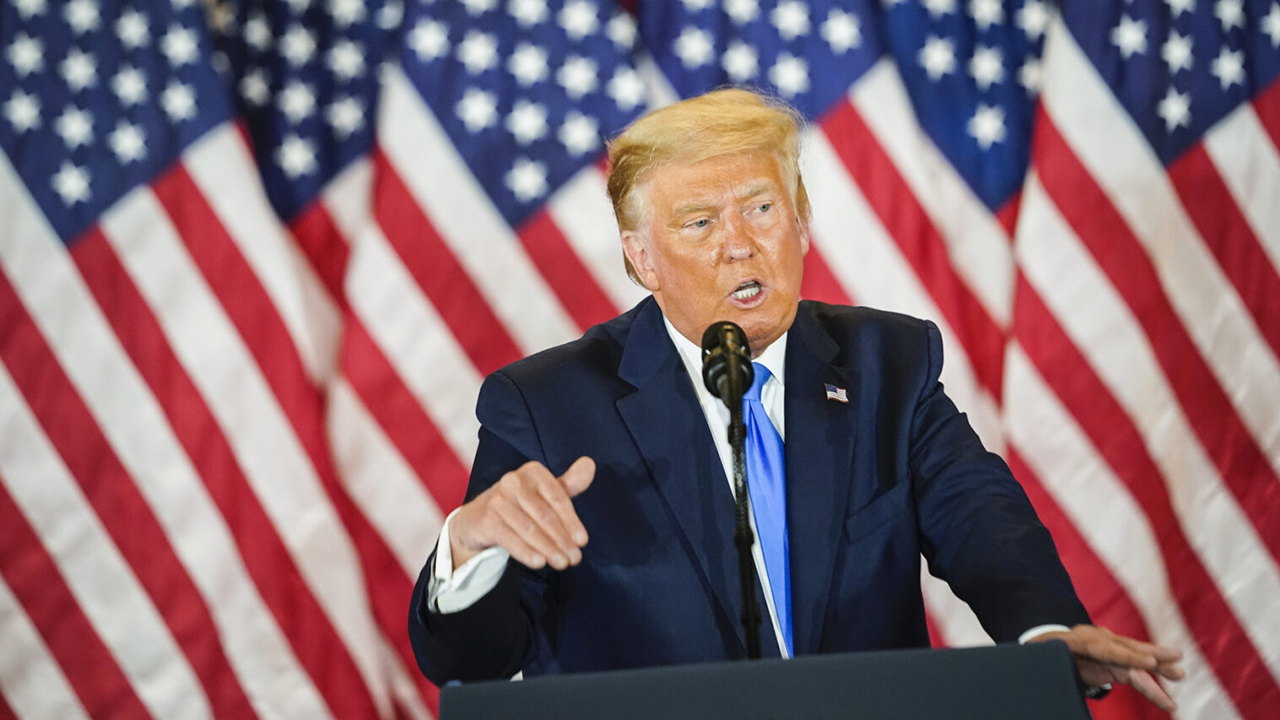 President Donald Trump speaks during an election event at the White House in the early morning hours on Nov. 4, 2020 in Washington. Liberal Jews fear that even if the president is defeated, his ideology has not been repudiated. (Photo/JTA-Jabin Botsford-The Washington Post via Getty Images)