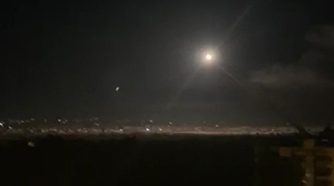 Syrian air defense batteries respond to Israeli airstrikes on military targets on the southern outskirts of Damascus early on Nov. 20, 2019. (Photo/JTA-AFP via Getty Images)