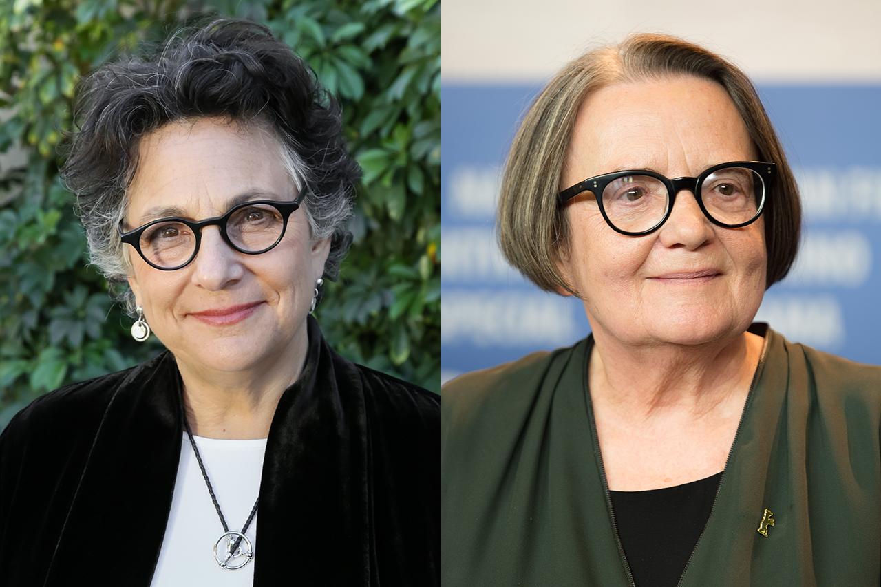 Filmmakers Roberta Grossman (left) and Agnieszka Holland