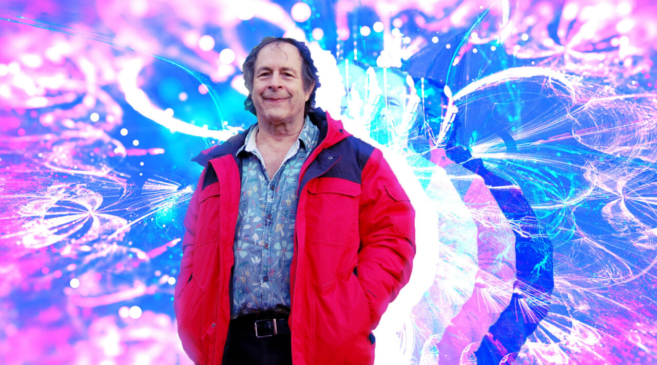 Rick Doblin is a leading advocate for the use of MDMA in psychotherapy. A clinical trial he championed produced favorable results this year. (Photo/JTA-Ben Harris; Illustration/JTA-Grace Yagel)