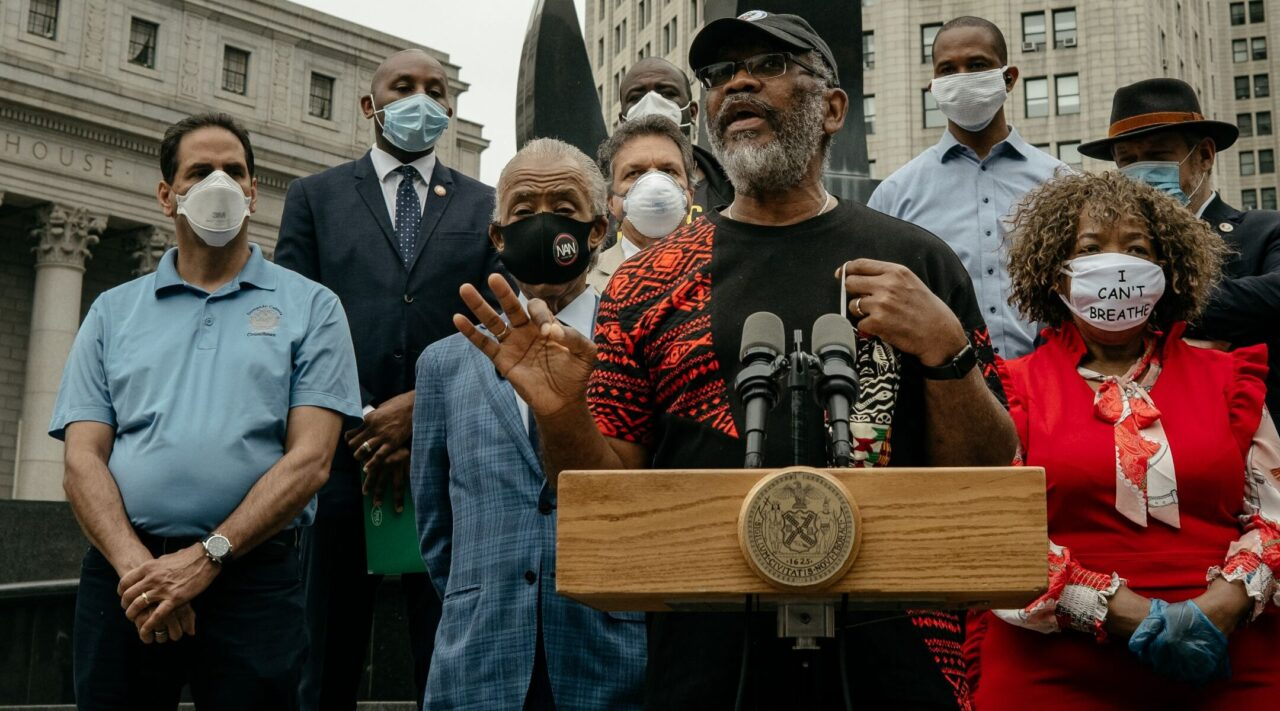 Rep. Gregory Meeks of New York, seen here at a news conference calling for a ban on police chokeholds in June 2020, is the incoming chair of the Foreign Affairs Committee. (Photo/JTA-Scott Heins-Getty Images)