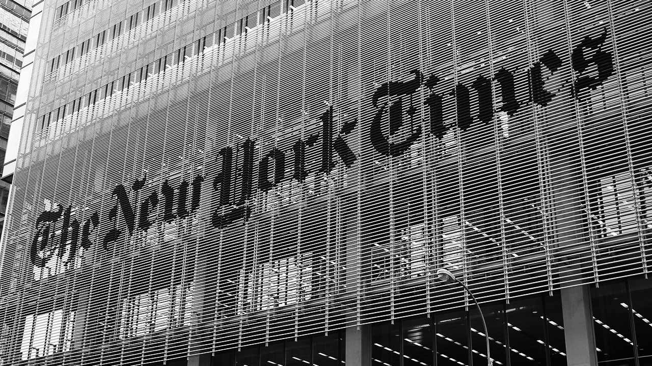 The New York Times building on Eighth Avenue in New York City. (Photo/Flickr-samchills)