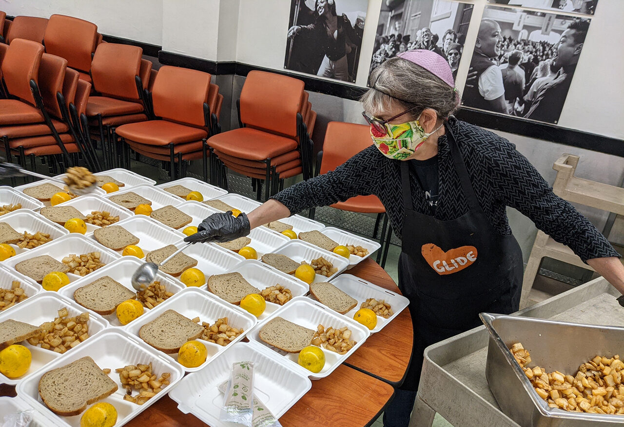 Marilyn Heiss is a regular volunteer in Glide Memorial Church's meal program — which is where she'll be on Christmas.