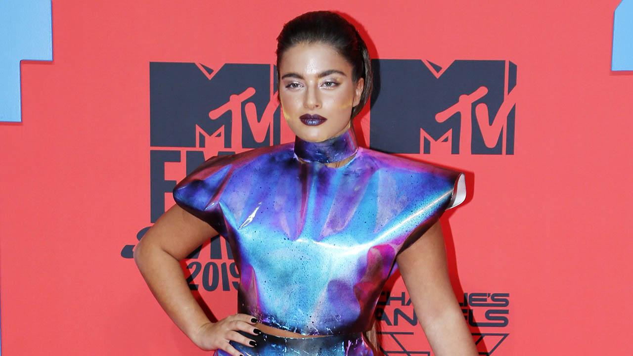 Israeli pop star Noa Kirel at the MTV European Music Awards in Seville, Nov. 3, 2019. (Photo/JTA-Europa Press Entertainment-Europa Press via Getty Images)
