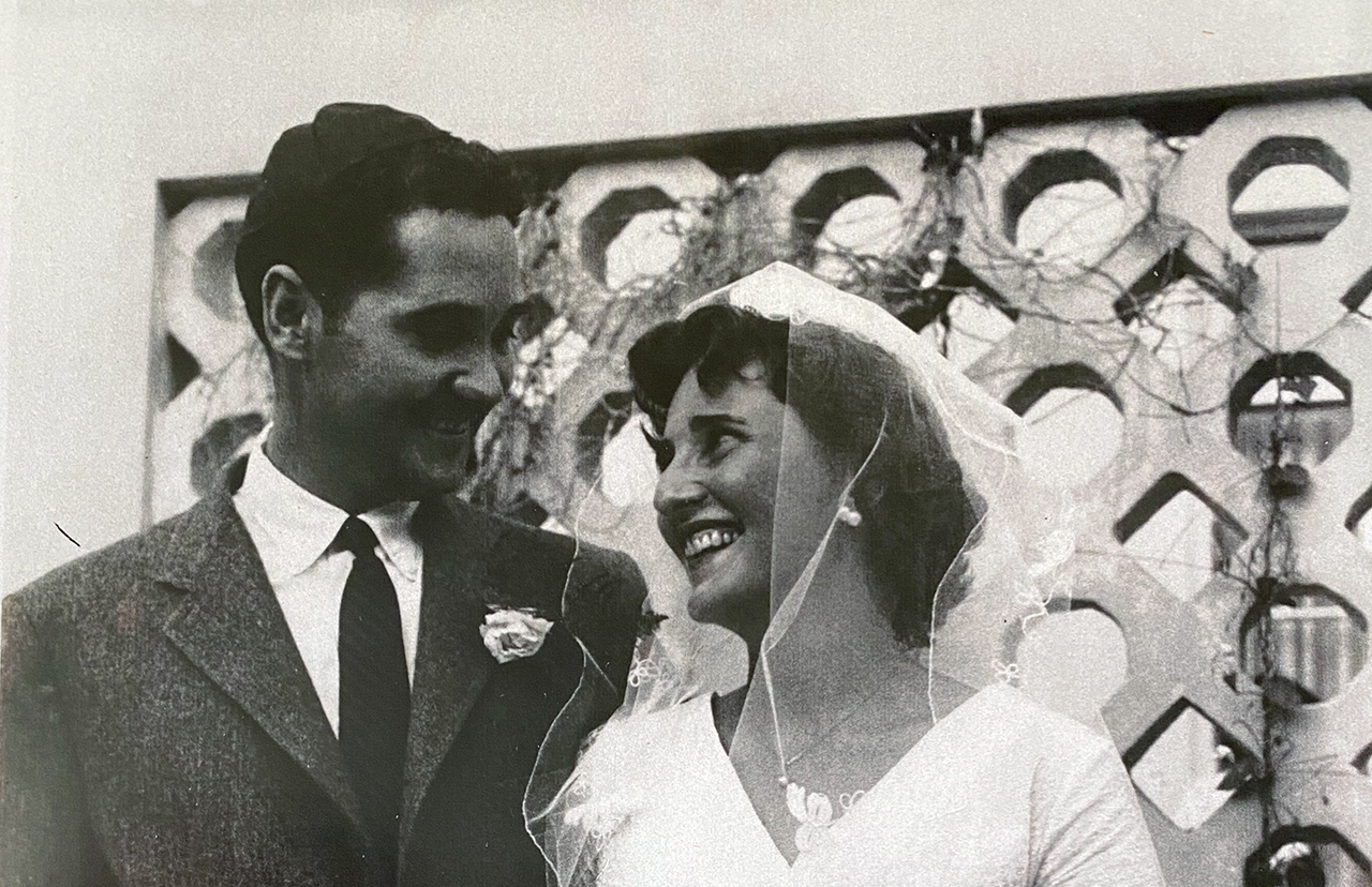 Hershel Herzberg married Dorothy Crews at the Israeli embassy in Nigeria, where both served in the Peace Corps between 1961-1963. (Photo/Courtesy Sam Herzberg)