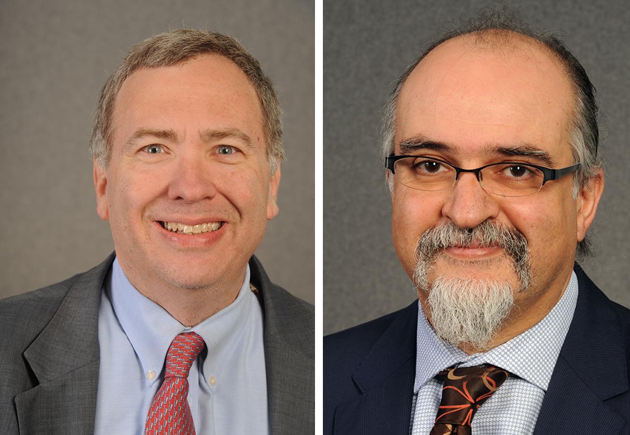 David Makovsky (left) and Ghaith Al-Omari spoke Dec. 16 at the Z3 conference.