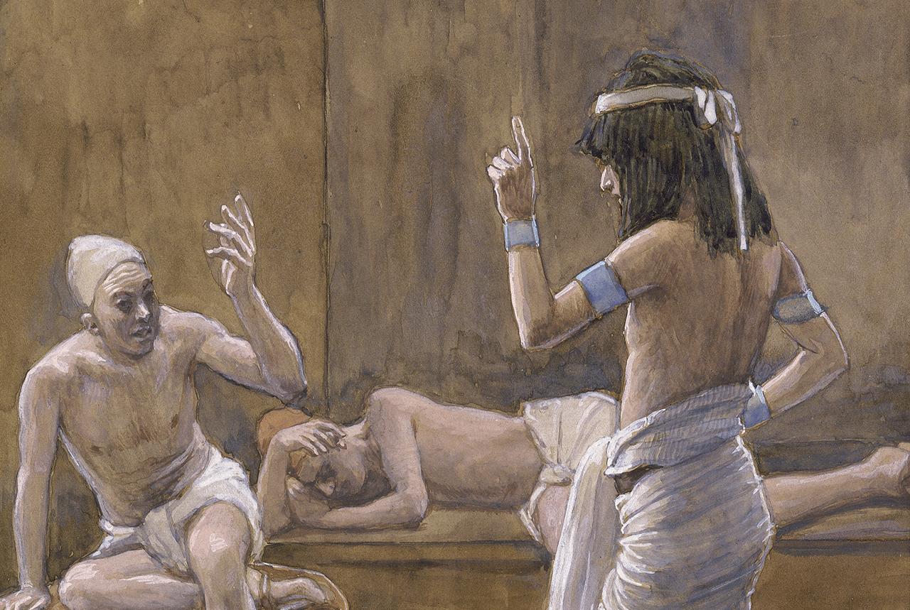 """""""Joseph Interprets Dreams While in Prison"""" by James Tissot, ca. 1900."""
