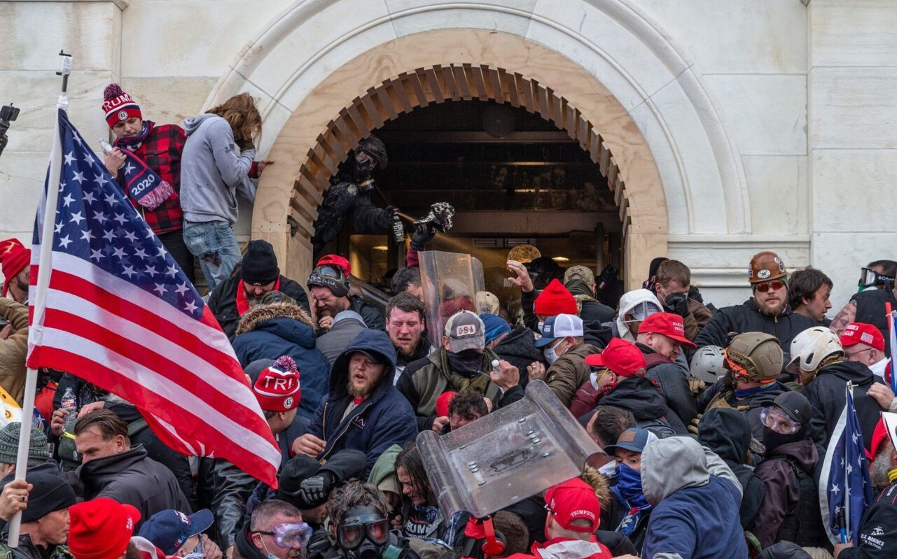 Police use tear gas around the Capitol building where pro-Trump supporters breached the Capitol, Jan. 6, 2021. (Photo/JTA-Lev Radin-Pacific Press-LightRocket via Getty Images)
