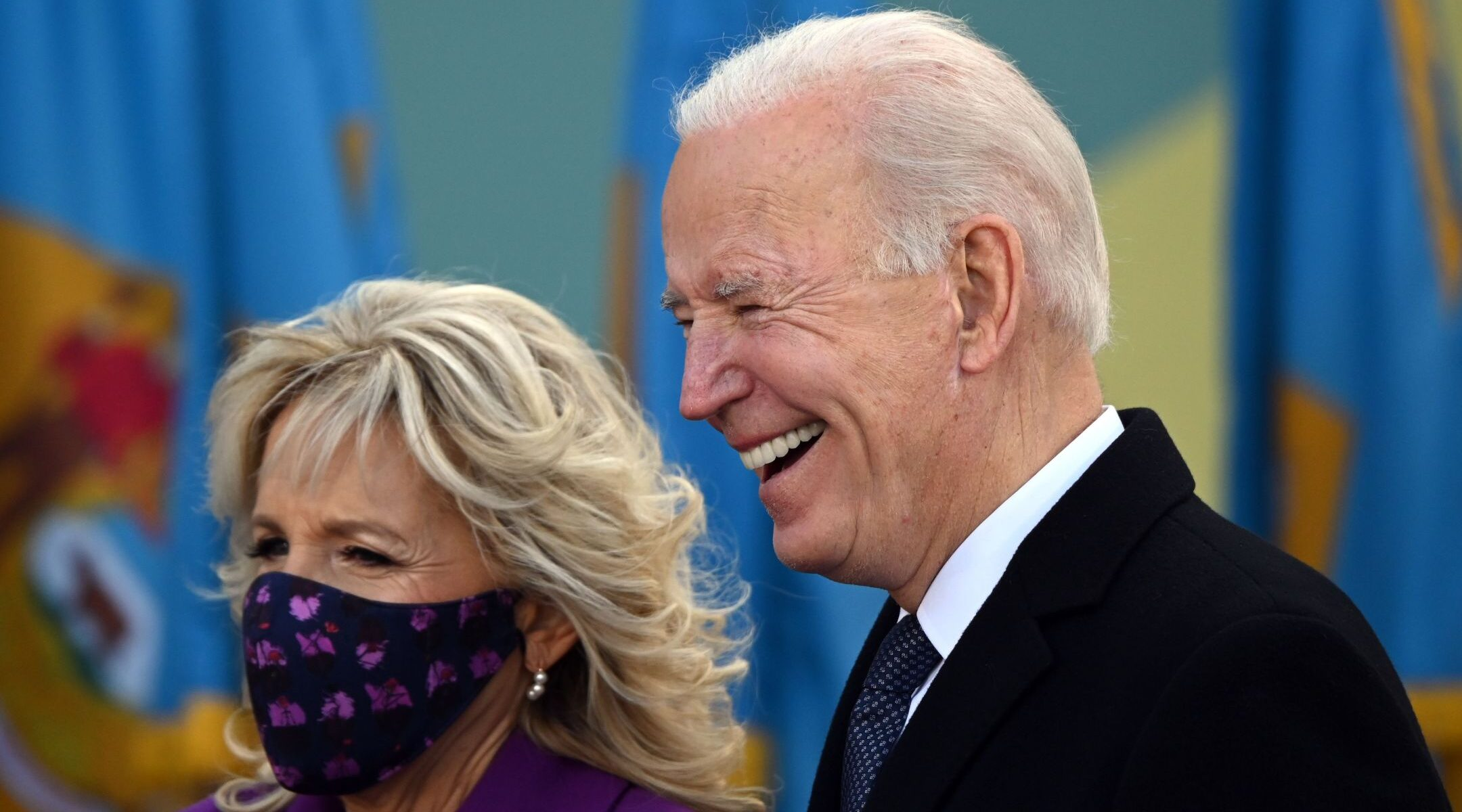 President-elect Joe Biden and wife Jill attend a farewell event at the airport in New Castle, Delaware, before departing for Washington, Jan. 19, 2021. (Photo/JTA-Jim Watson-AFP via Getty Images)