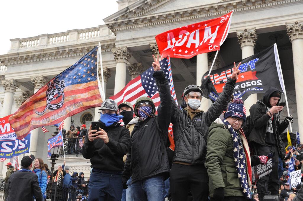 Pro-Trump demonstrators overtook police and stormed the U.S. Capitol building in Jan. 6, 2021. (Photo/Lloyd Wolf via JTA)