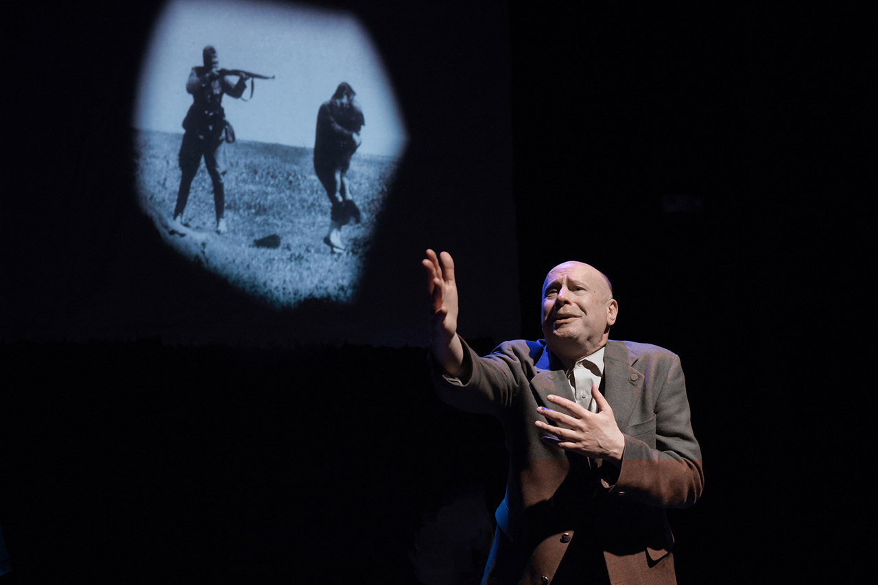 "Roger Grunwald as Shmuel, an Auschwitz survivor, in ""The Mitzvah."""