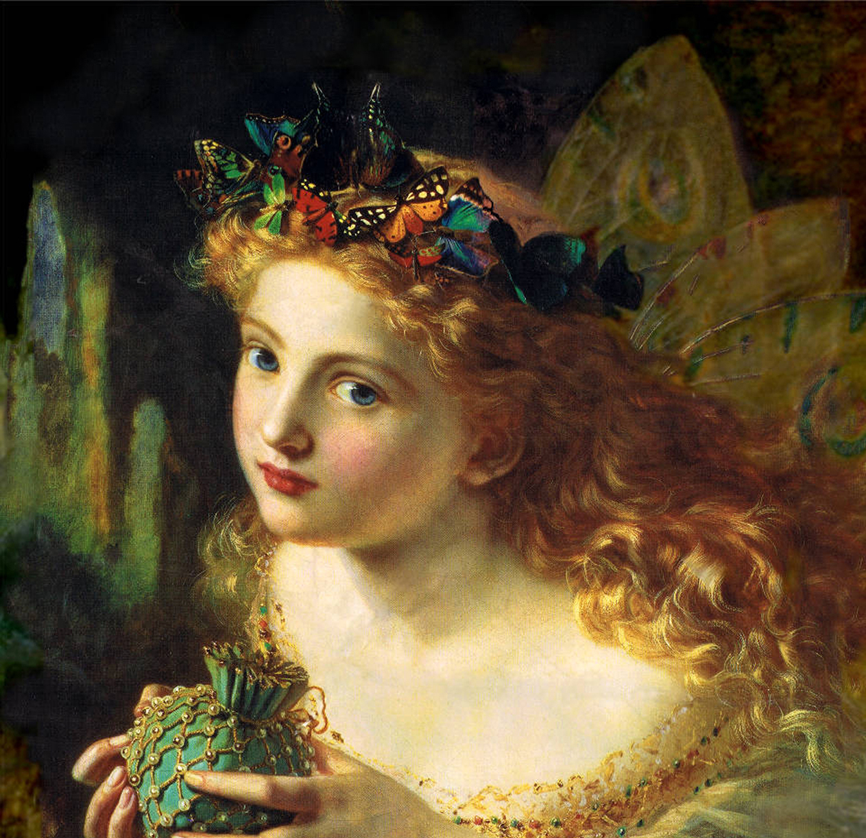 An 1869 portrait of a fairy by Sophie Gengembre Anderson.
