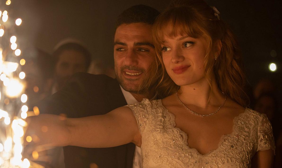 "Imri Biton (left) and Nadia Tereszkiewicz in ""Possessions."" (Photo/Courtesy HBO Max)"