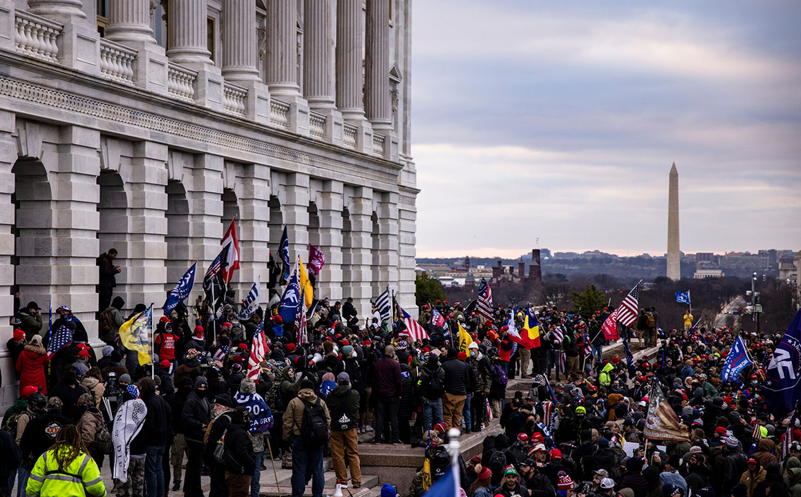 A pro-Trump mob stormed the U.S. Capitol following a rally with President Donald Trump on January 6, 2021 in Washington, DC. (Photo/JTA-Samuel Corum-Getty Images)