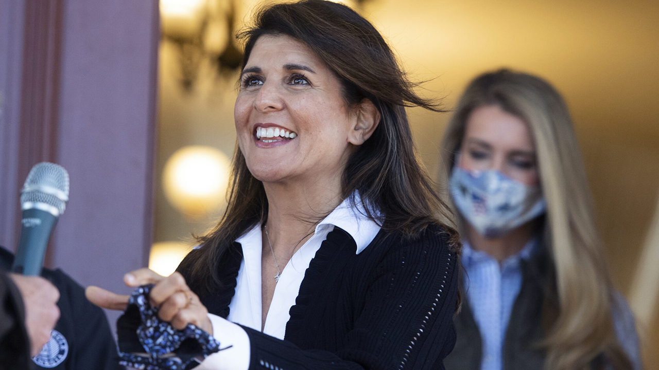Nikki Haley at a campaign rally for Kelly Loeffler in Monroe, Georgia, Oct. 30, 2020. (Photo/JTA-Tom Williams-CQ Roll Call, Inc via Getty Images)