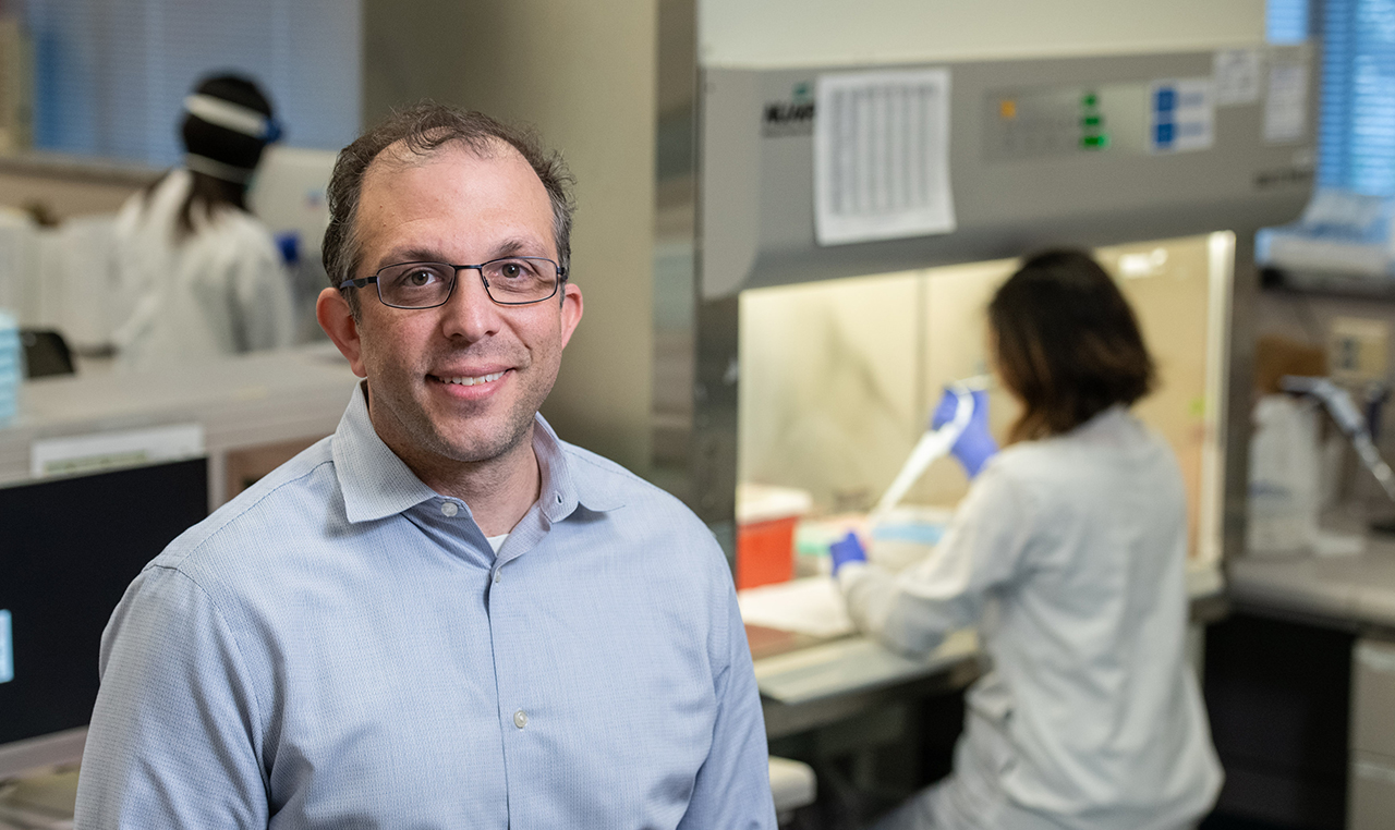 Dr. Benjamin Pinsky is the director of Stanford Medicine's Clinical Virology Laboratory. (Photo/Steve Fisch)