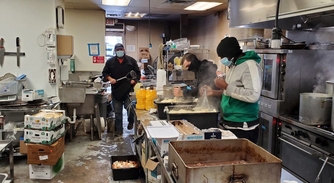 Kosher Palate, a kosher restaurant in Dallas, prepared thousands of free hot meals to serve to Orthodox families affected by power outages during Winter Storm Uri, Feb. 17, 2021.