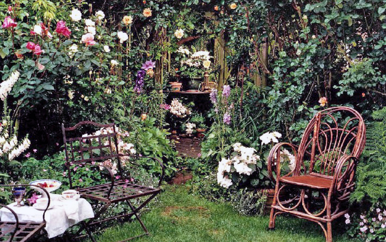 A garden of his own: Landscape designer Stephen John Suzman's own rose garden in San Francisco.
