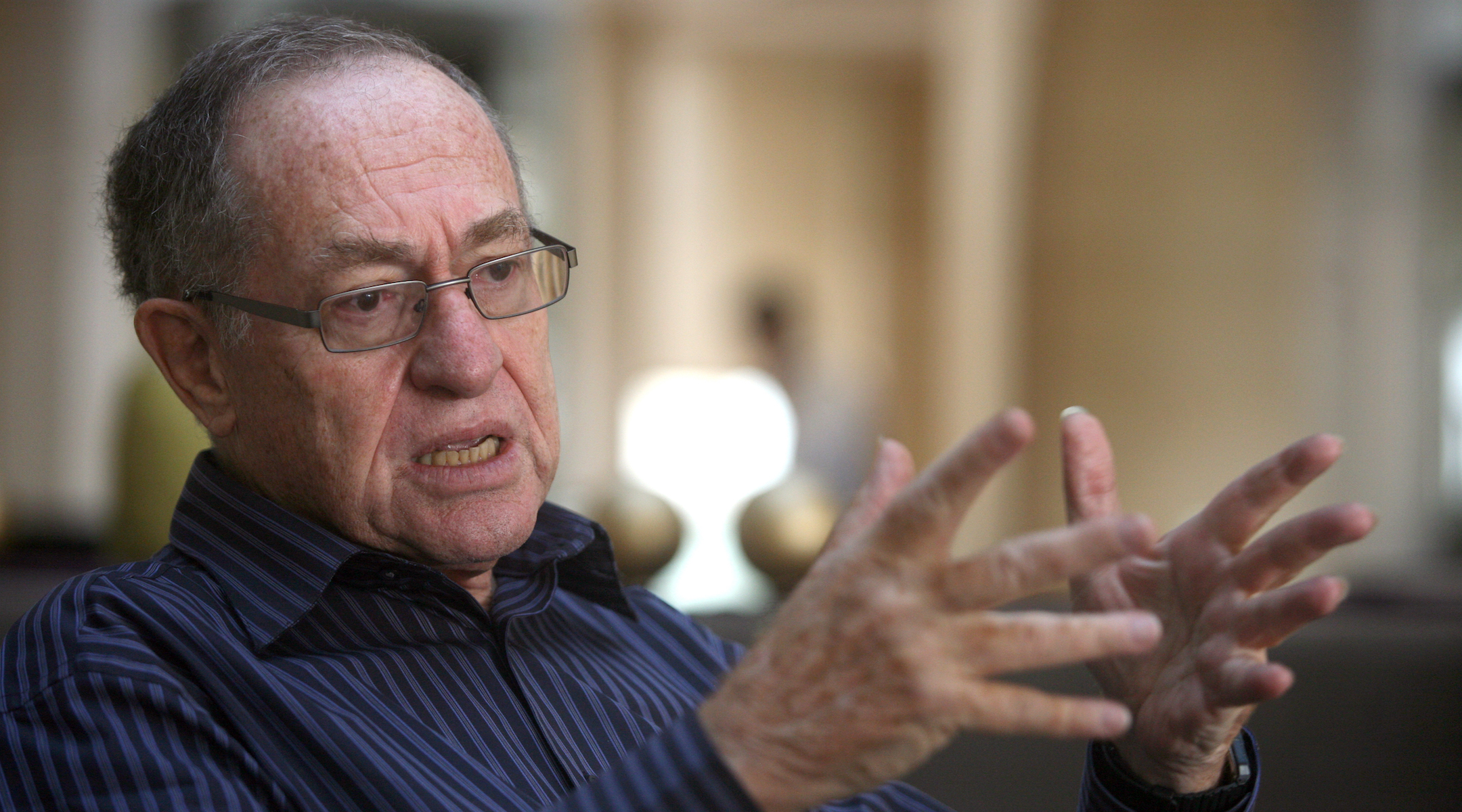 Alan Dershowitz during an interview on May 18, 2010 in Jerusalem, Israel. (Photo/JTA-Lior Mizrahi-Getty Images)