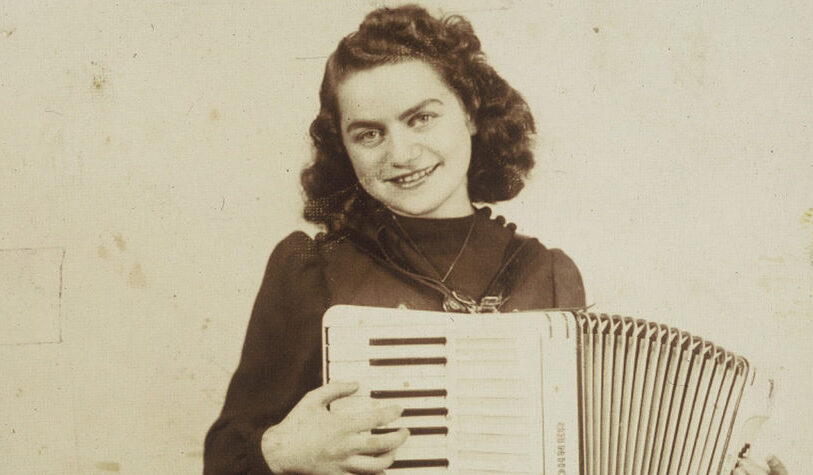 A young Flory Jagoda, the woman who would go on to become the doyenne of Ladino music.