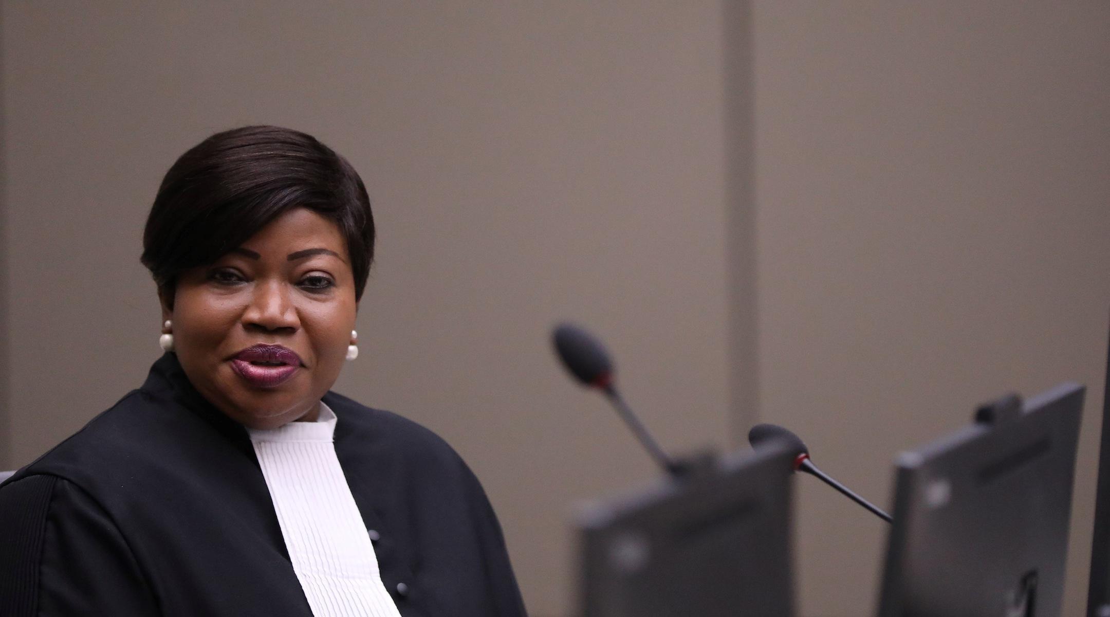 International Criminal Court prosecutor Fatou Bensouda at the court in The Hague, Netherlands, July 8, 2019. (Photo/JTA-Eva Plevier-AFP via Getty Images)