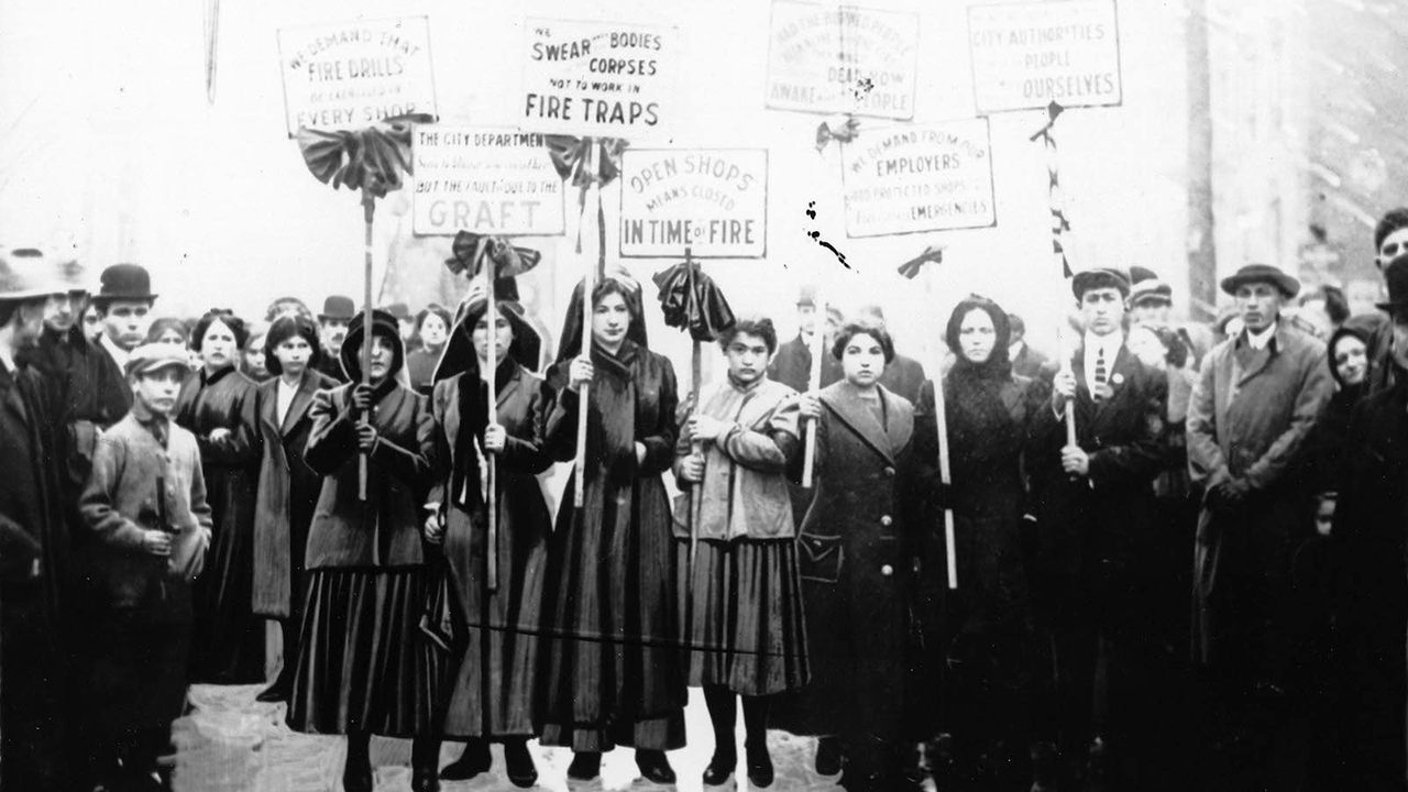 Mourners picketing after the Triangle Shirtwaist Fire. (Photo/Kheel Center for Labor Management Documentation and Archives)