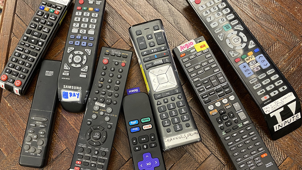 It's just too many remotes. (Photo/Janet Silver Ghent)