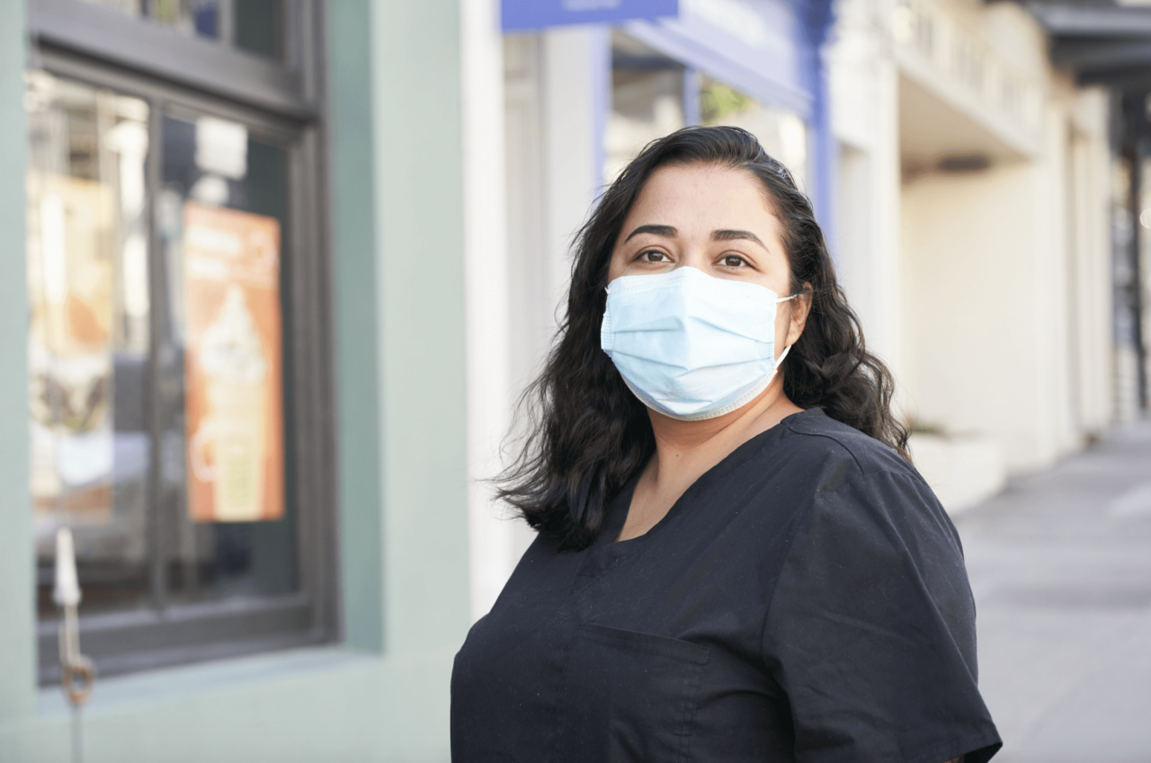 Jewish Vocational Services helped Monica Rivera get a job right as the pandemic began. (Photo/Courtesy JVS)