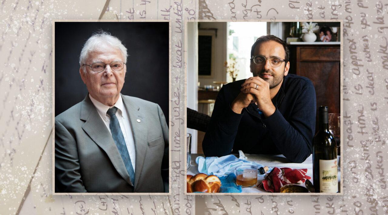 Alon Shaya (right) helped Steven Fenves experience the taste of his pre-Holocaust childhood. (Photos/U.S. Holocaust Memorial Museum; Rush Jagoe)