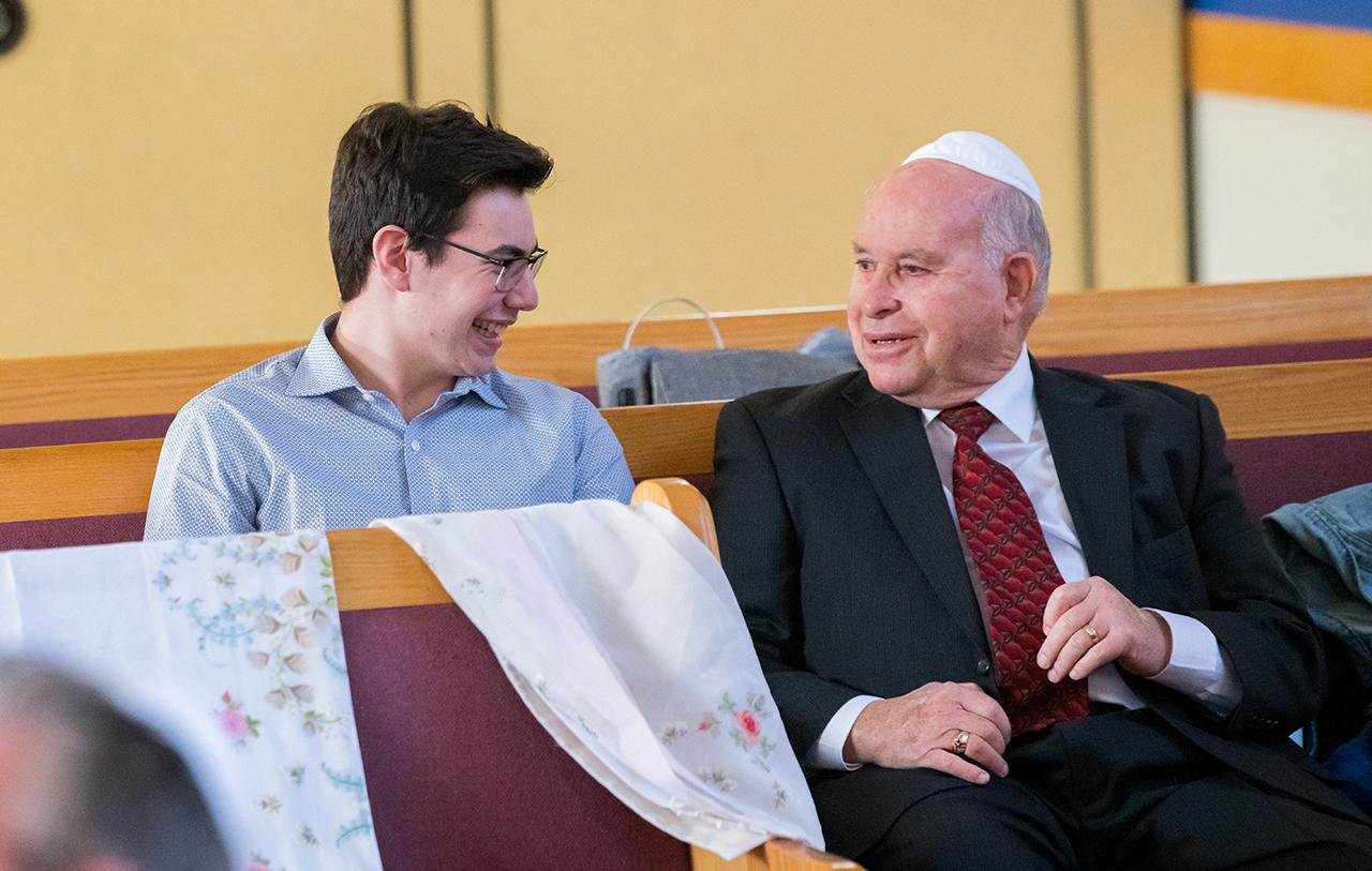 Eric Fomil with grandson Ilan Rosenbaum.
