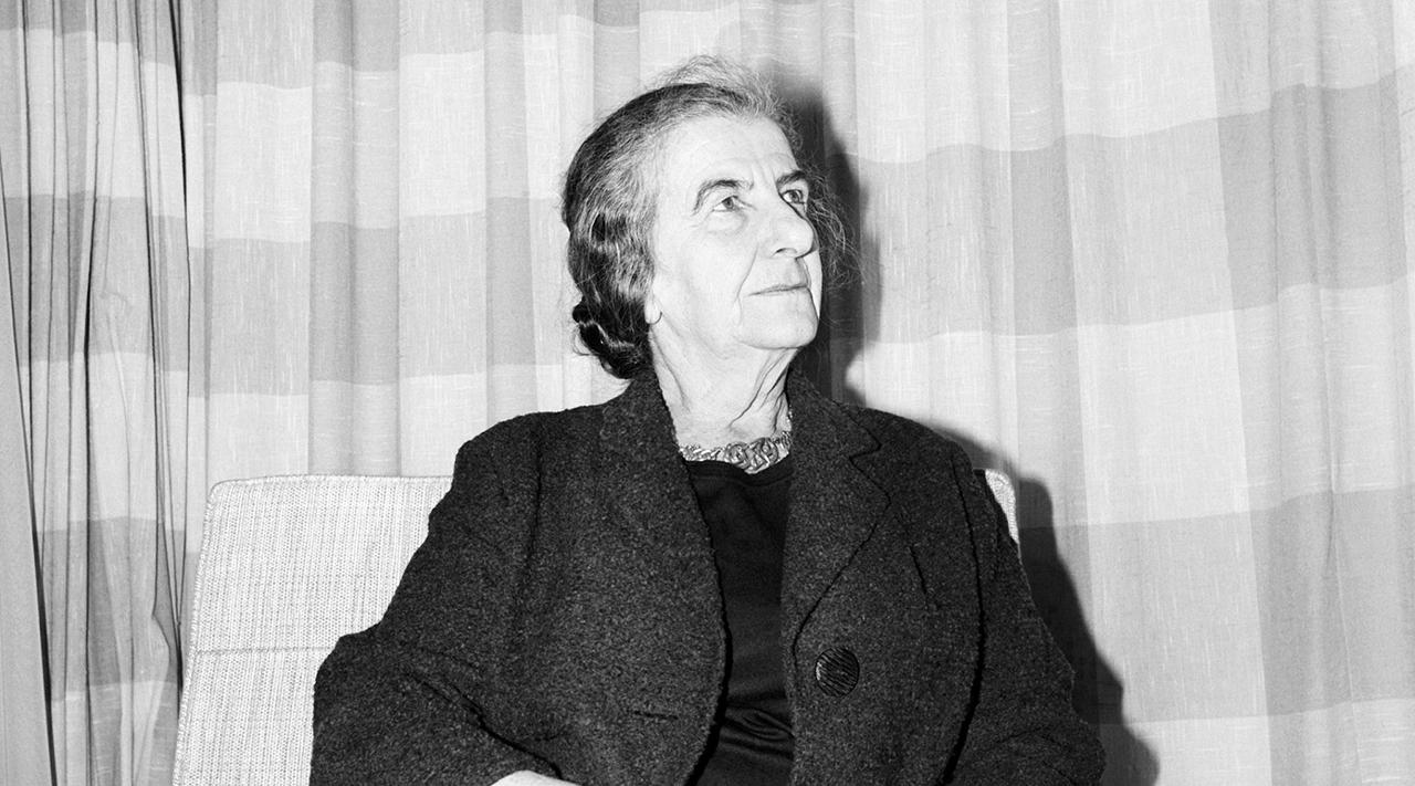 Golda Meir in France in 1965. (Photo/JTA-Gamma-Keystone-Getty Images)