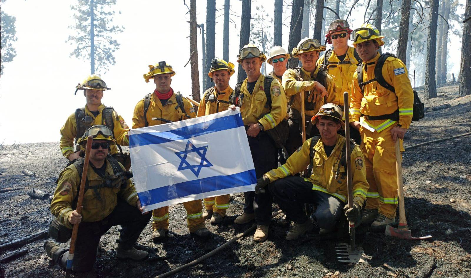 Israeli firefighters in California in September 2020.