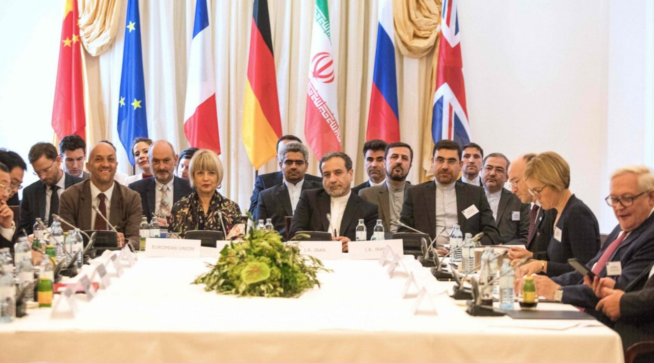 Representatives of the E3+2 group (China, France, Germany, Russia, United Kingdom) and Iran meet in Vienna, Austria, July 28, 2019. (Photo/JTA-Alex Halada-AFP-Getty Images)