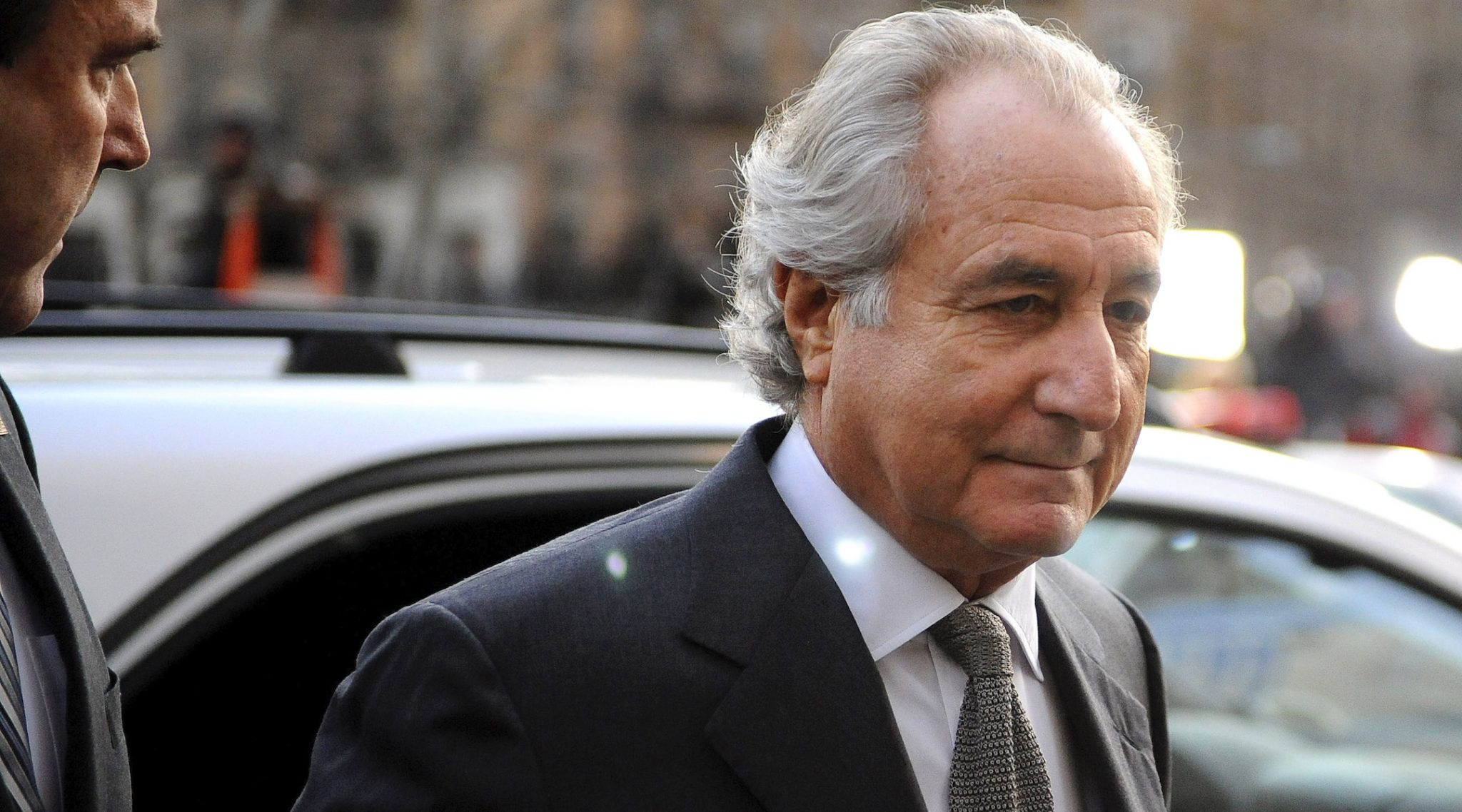 Bernie Madoff, pictured in 2009 ahead of his entering a guilty plea. (Photo/JTA-Stephen Chernin-Getty Images)