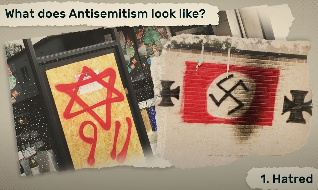 "Screenshot from ""Antisemitism in Our Midst."""