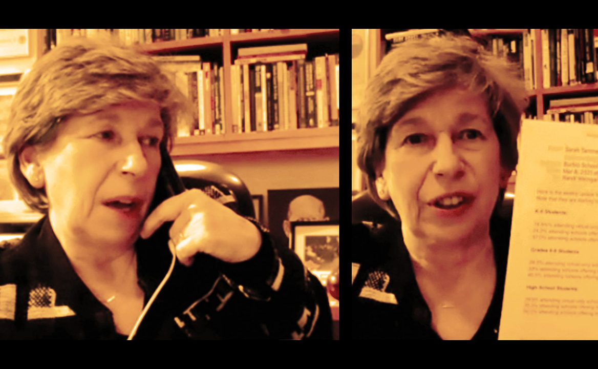 Randi Weingarten during a March 9 Zoom call with the Jewish Telegraphic Agency.