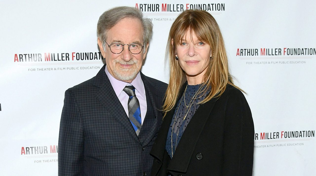 Stephen Spielberg and Kate Capshaw attend the 2018 Arthur Miller Foundation Honors at City Winery in New York City, Oct. 22, 2018. (Photo/JTA-Mike Coppola-Getty Images)