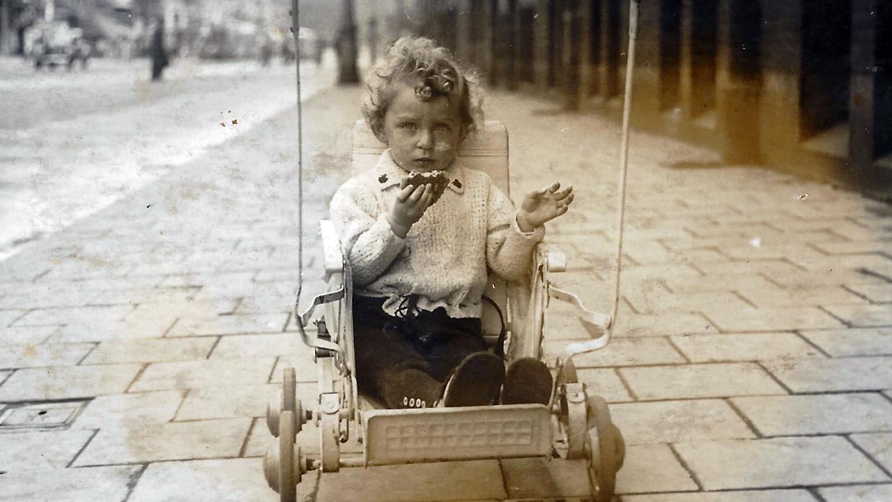 Edith Heine as a toddler in pre-war Holland.