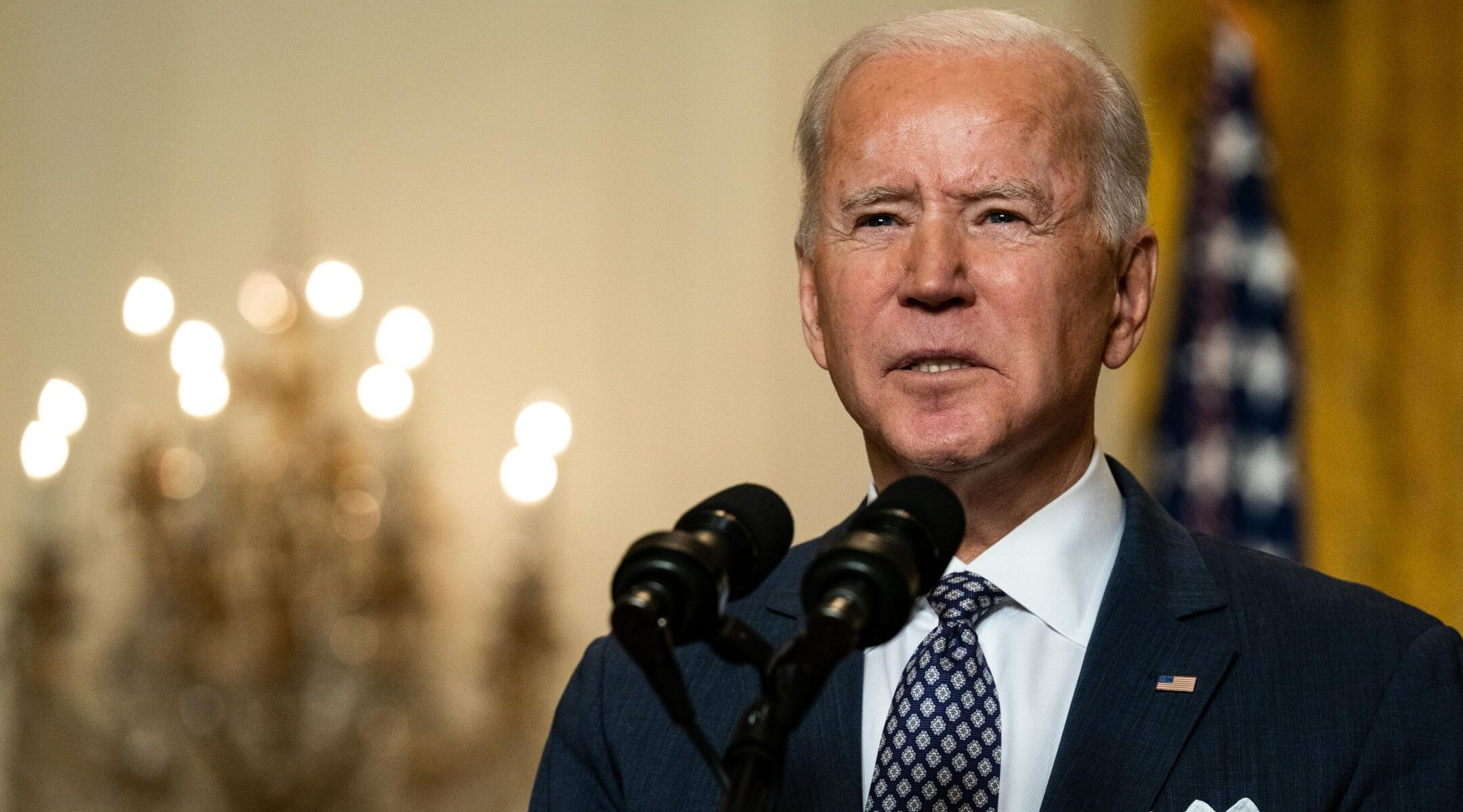 President Joe Biden, speaking from the White House at a virtual event hosted by the Munich Security Conference, Feb. 19, 2021. (Photo/JTA-Anna Moneymaker-Pool-Getty Images)