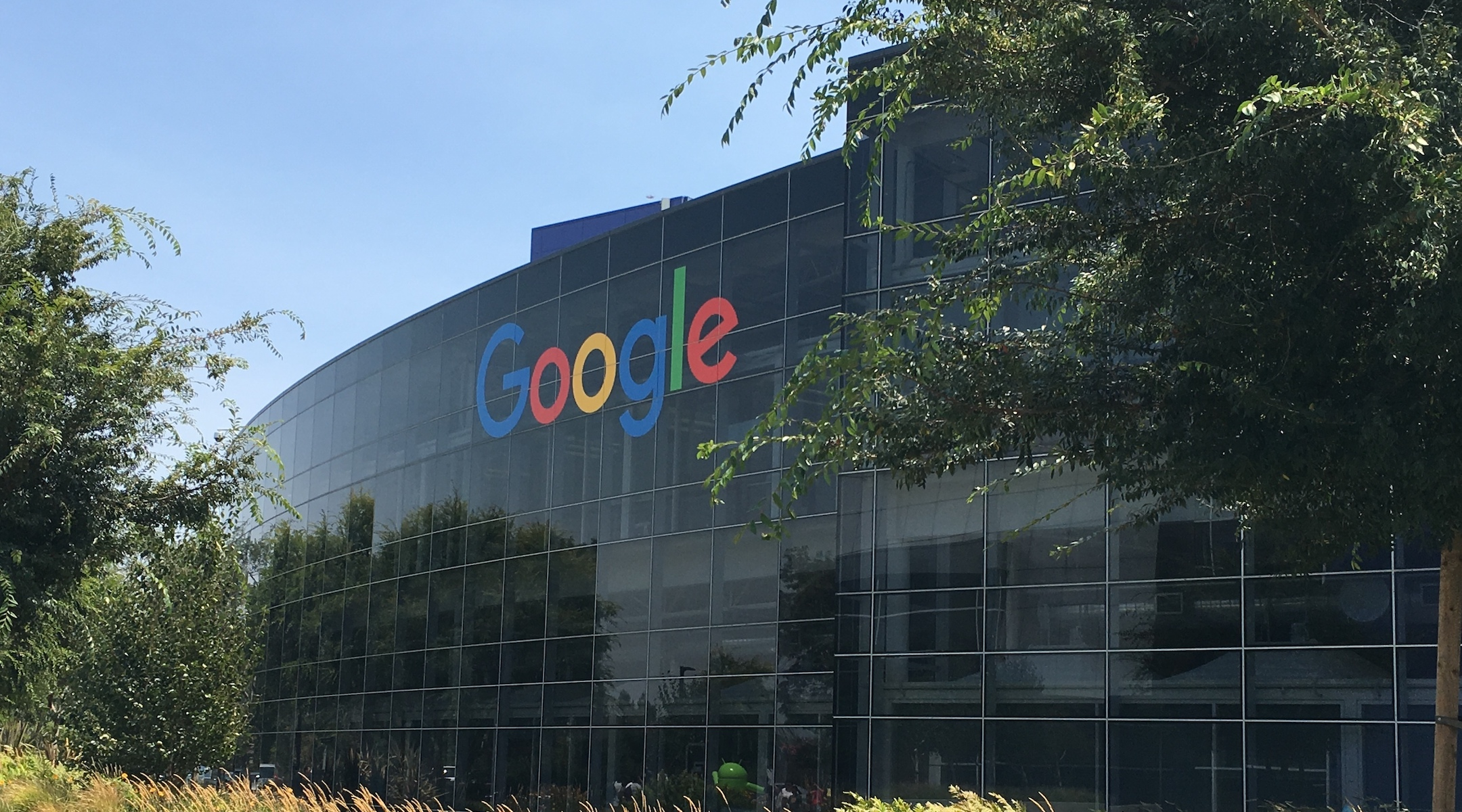 Google headquarters in Mountain View. (Photo/JTA-Wikimedia Commons)