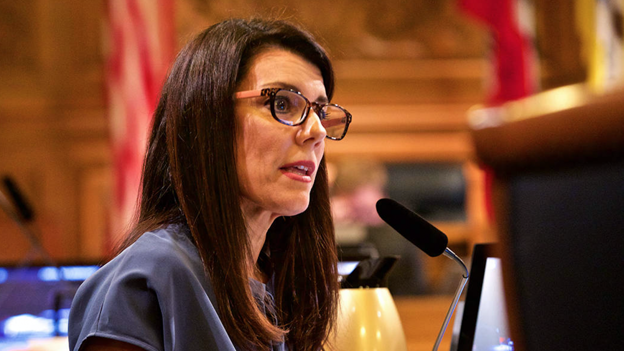 Supervisor Catherine Stefani introduced a resolution in support of SB 693, a bill that would strengthen the state's Holocaust education. (Photo/Courtesy Andy Mullen)