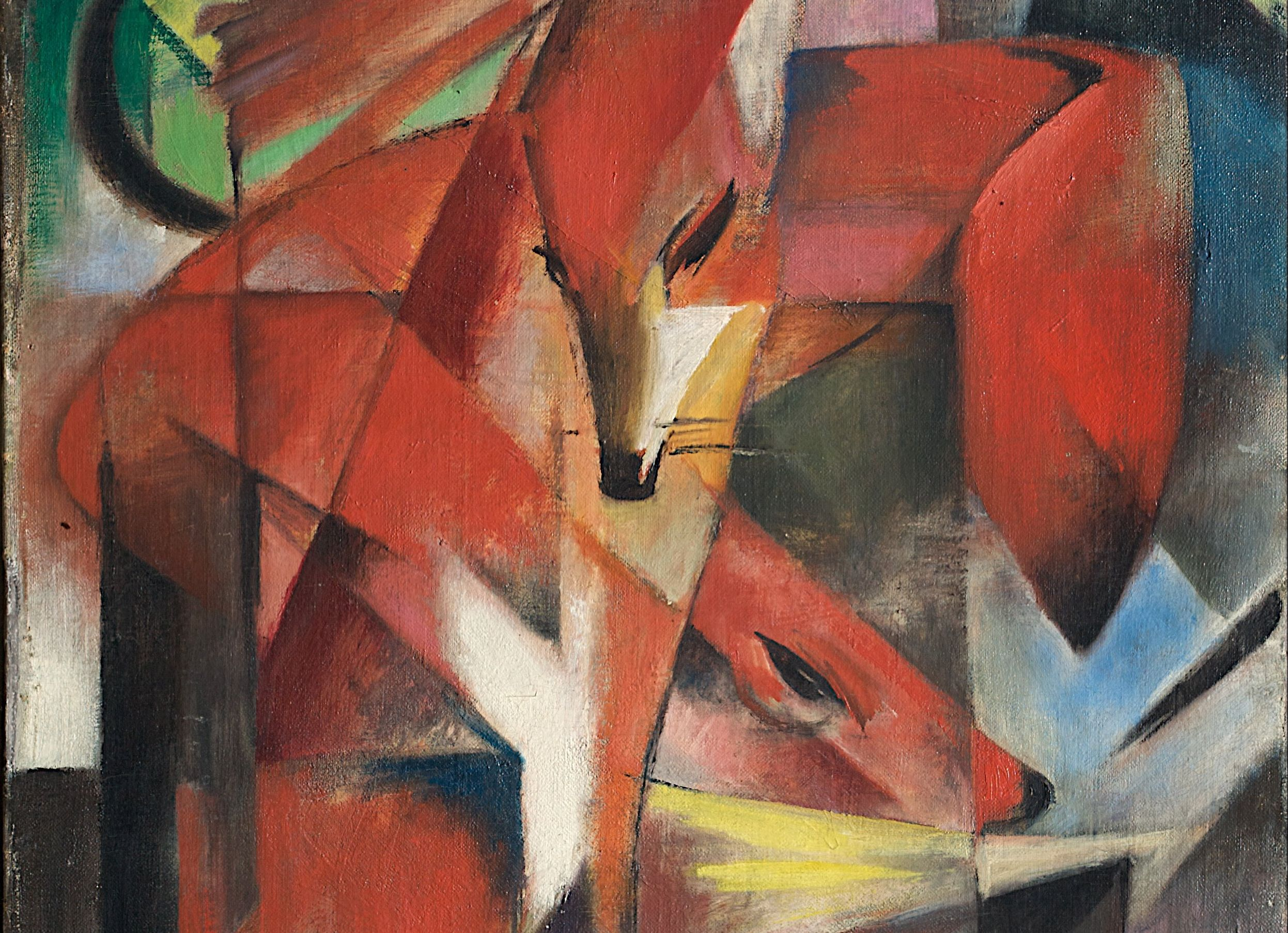 expressionist painting of a fox